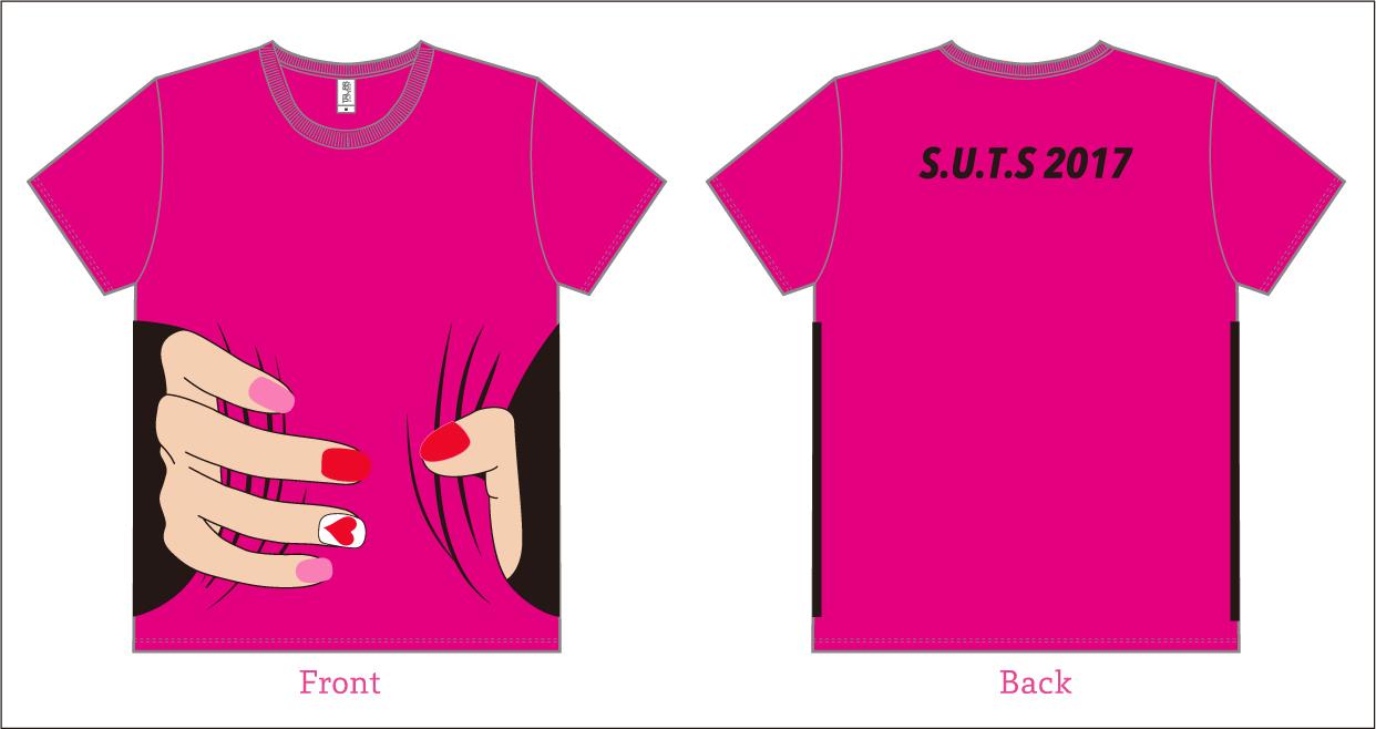 「真咲さんがギュッ!」Tシャツピンク