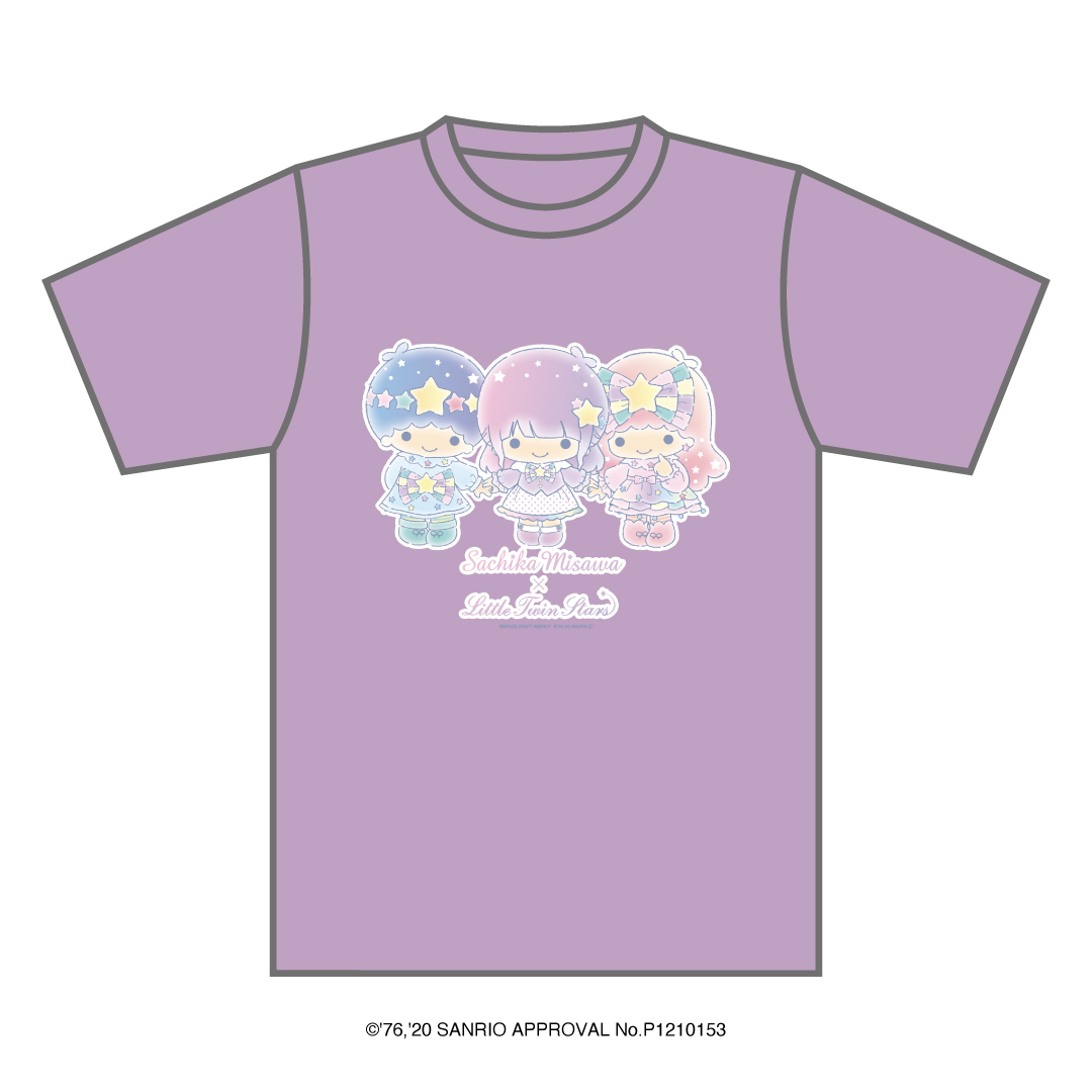 「三澤紗千香×Little Twin Stars」Tシャツ