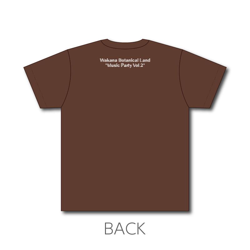 "「Wakana Botanical Land ""Music Party Vol.2""」ぎょうざちゃんTシャツ(焼き目色) 全身で焼き色を感じてね!"