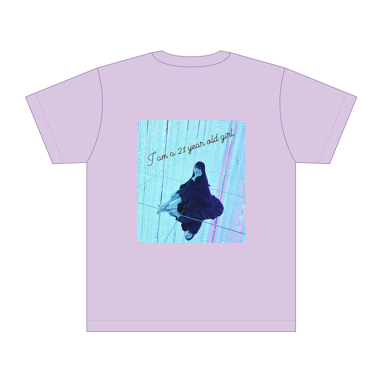 【一般】生誕Tシャツ(21歳ver.) ライトパープル